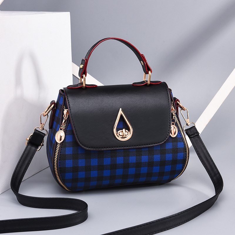Shoulder Handbag - Plaid