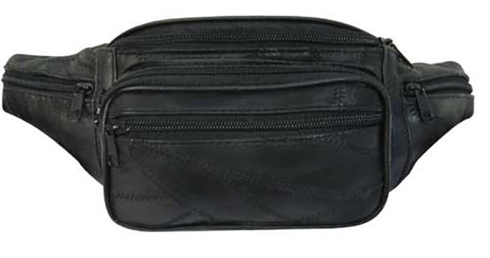 "Leather Fanny Pack - 13"" x 6"""